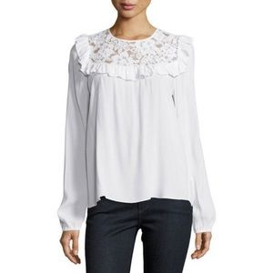 WAYF Nordstrom brand. Lace ruffle blouse.